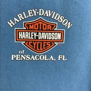 Harley-Davidson Shirts - Harley-Davidson Slate Blue Pensacola Tee T-Shirt